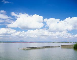 霞ヶ浦と筑波山遠景の写真素材 [FYI03290303]