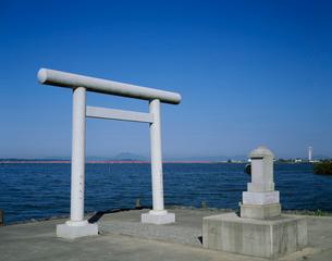 霞ヶ浦と筑波山遠景の写真素材 [FYI03290714]