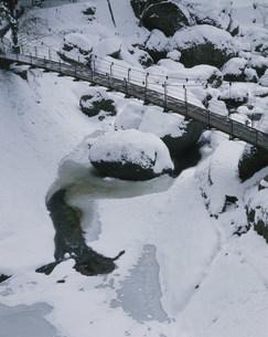 氷結した袋田の滝の写真素材 [FYI03291051]