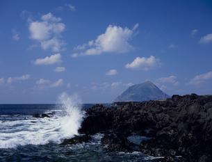 南原千畳岩と八丈小島の写真素材 [FYI03291341]
