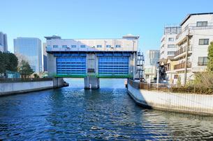 大島川水門の写真素材 [FYI03293796]