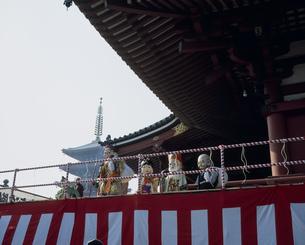浅草寺節分会の福寿の舞の写真素材 [FYI03297676]