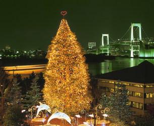 お台場のクリスマスツリーの写真素材 [FYI03297787]