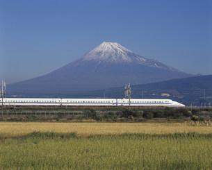 富士山と新幹線の写真素材 [FYI03297860]