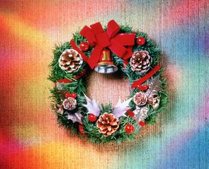 クリスマスリース オーロラの写真素材 [FYI03297866]