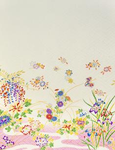 着物柄 四季の花のイラスト素材 [FYI03298124]