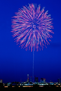 さいたま市花火大会 割物早打の写真素材 [FYI03298182]