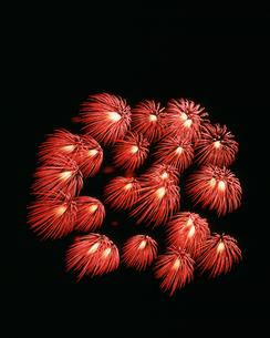 北上みちのく芸能まつりトロッコ流しと花火の夕べ 千輪の写真素材 [FYI03298405]