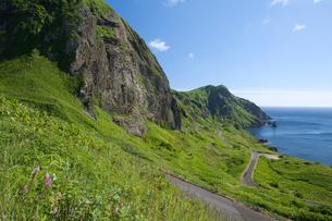 元地海岸コースより望む桃岩と猫岩の写真素材 [FYI03299511]