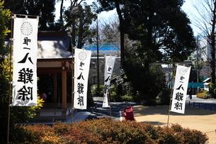 阿佐ヶ谷神明宮八難除の旗の写真素材 [FYI03300864]