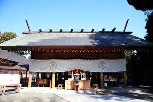 阿佐ヶ谷神明宮拝殿の写真素材 [FYI03300925]