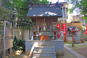 高円寺氷川神社摂社の気象神社拝殿の写真素材 [FYI03301365]