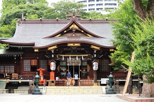新宿十二社熊野神社拝殿の写真素材 [FYI03301391]