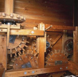 水車小屋の歯車の写真素材 [FYI03302018]