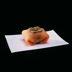 京の和菓子(柿)の写真素材 [FYI03302580]