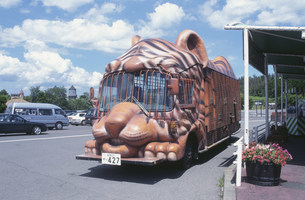 アフリカンサファリのバスの写真素材 [FYI03302597]