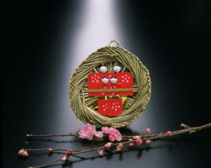 流し雛と桃の花の写真素材 [FYI03303073]