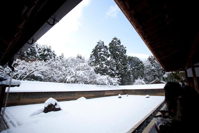 雪の石庭の写真素材 [FYI03303605]