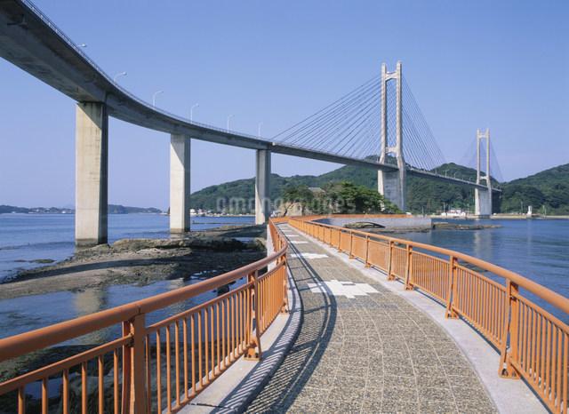 呼子大橋と弁天遊歩道の写真素材 [FYI03303903]