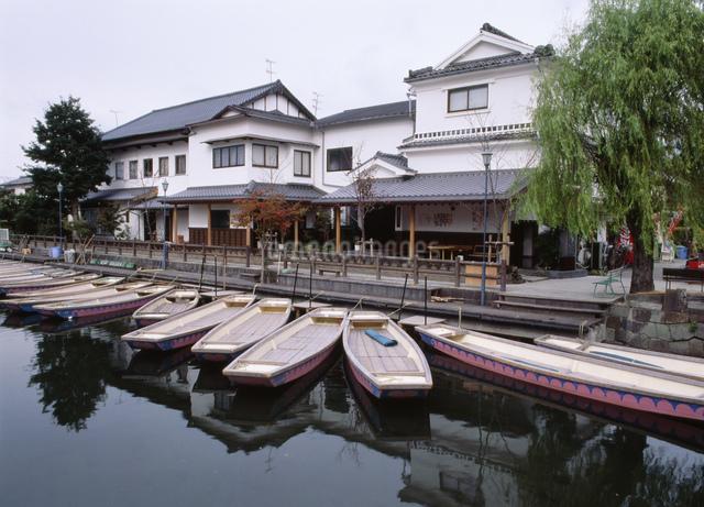 柳川の船着場 旧懐月楼の写真素材 [FYI03303916]