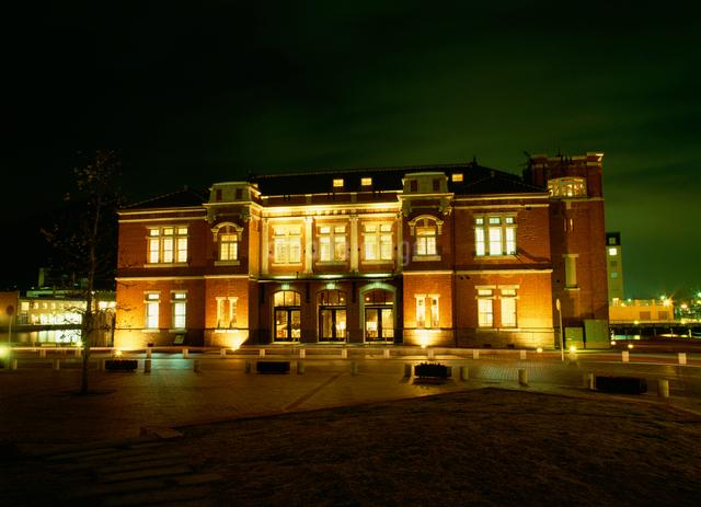 旧門司税関の夜景の写真素材 [FYI03303931]