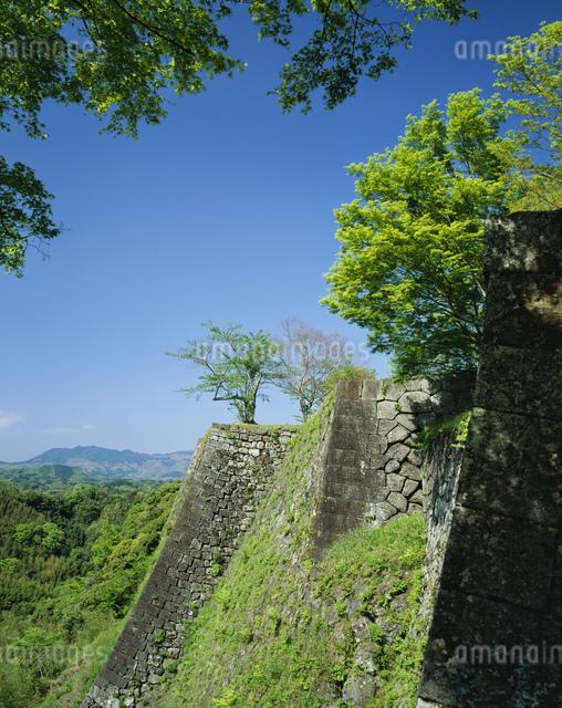 新緑の岡城跡の写真素材 [FYI03304014]