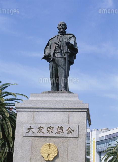 大友宗麟公銅像の写真素材 [FYI03304051]