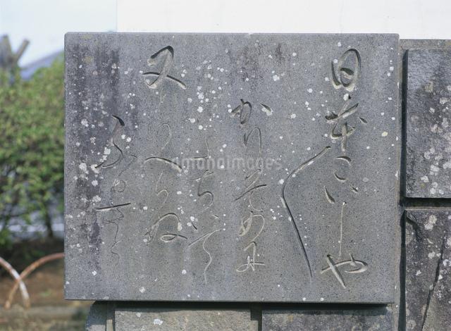 ジャガタラ娘の碑文の写真素材 [FYI03304147]