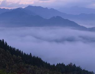 国見ヶ丘の雲海の写真素材 [FYI03304365]
