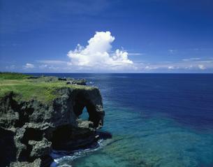 万座毛  8月   沖縄県の写真素材 [FYI03304565]
