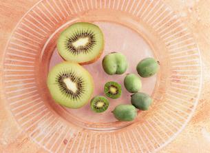 キウイフルーツとミニキウイフルーツの写真素材 [FYI03304861]