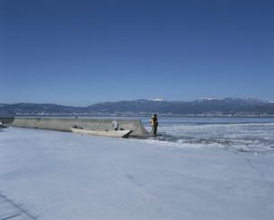 諏訪湖の写真素材 [FYI03305527]
