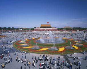 天安門広場俯瞰 9月 北京 中国の写真素材 [FYI03305789]