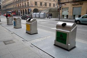 リサイクルごみ箱の写真素材 [FYI03306339]