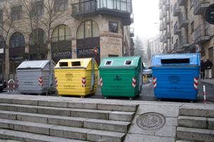 リサイクルごみ箱の写真素材 [FYI03306347]