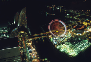ランドマークタワーより夜景眺望の写真素材 [FYI03306933]