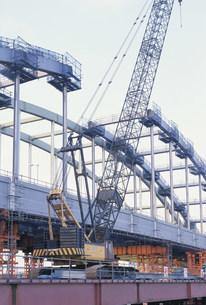 多摩水道橋増設工事の写真素材 [FYI03307002]