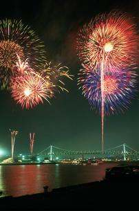 東京湾大華火祭 豊海岸壁より望むの写真素材 [FYI03307031]