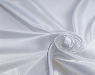 銀色の渦巻の布の写真素材 [FYI03307147]