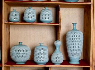 月城陶窯の青磁器 民族工芸村の写真素材 [FYI03310409]