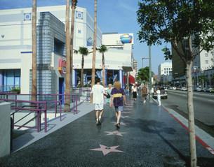 ハリウッド大通り ウォークオブフェイムの写真素材 [FYI03311741]