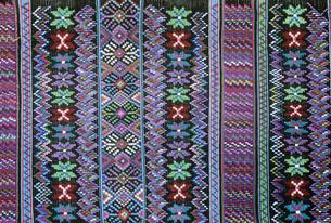 トドス・サントス・クチュマタンの織物の写真素材 [FYI03312805]