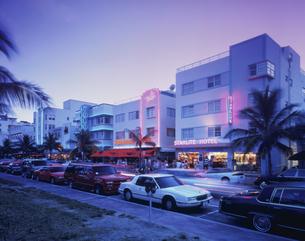 マイアミビーチ夕景 8月の写真素材 [FYI03312836]