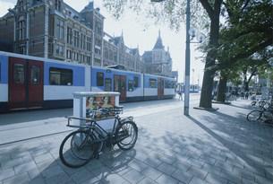 アムステルダム駅前の写真素材 [FYI03312929]