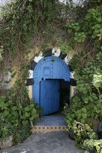 シディ・ブ・サイドの青いドアの写真素材 [FYI03313023]