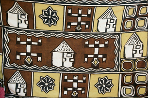 ドゴン族の織物の写真素材 [FYI03313169]