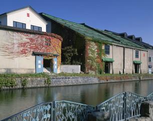 秋の小樽運河の写真素材 [FYI03313417]