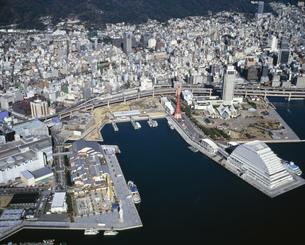 神戸港と市街の写真素材 [FYI03313877]