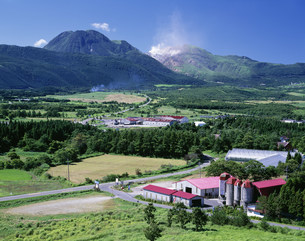飯田高原と九重連山の写真素材 [FYI03314033]