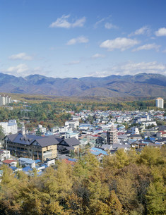 秋の草津温泉の写真素材 [FYI03314230]